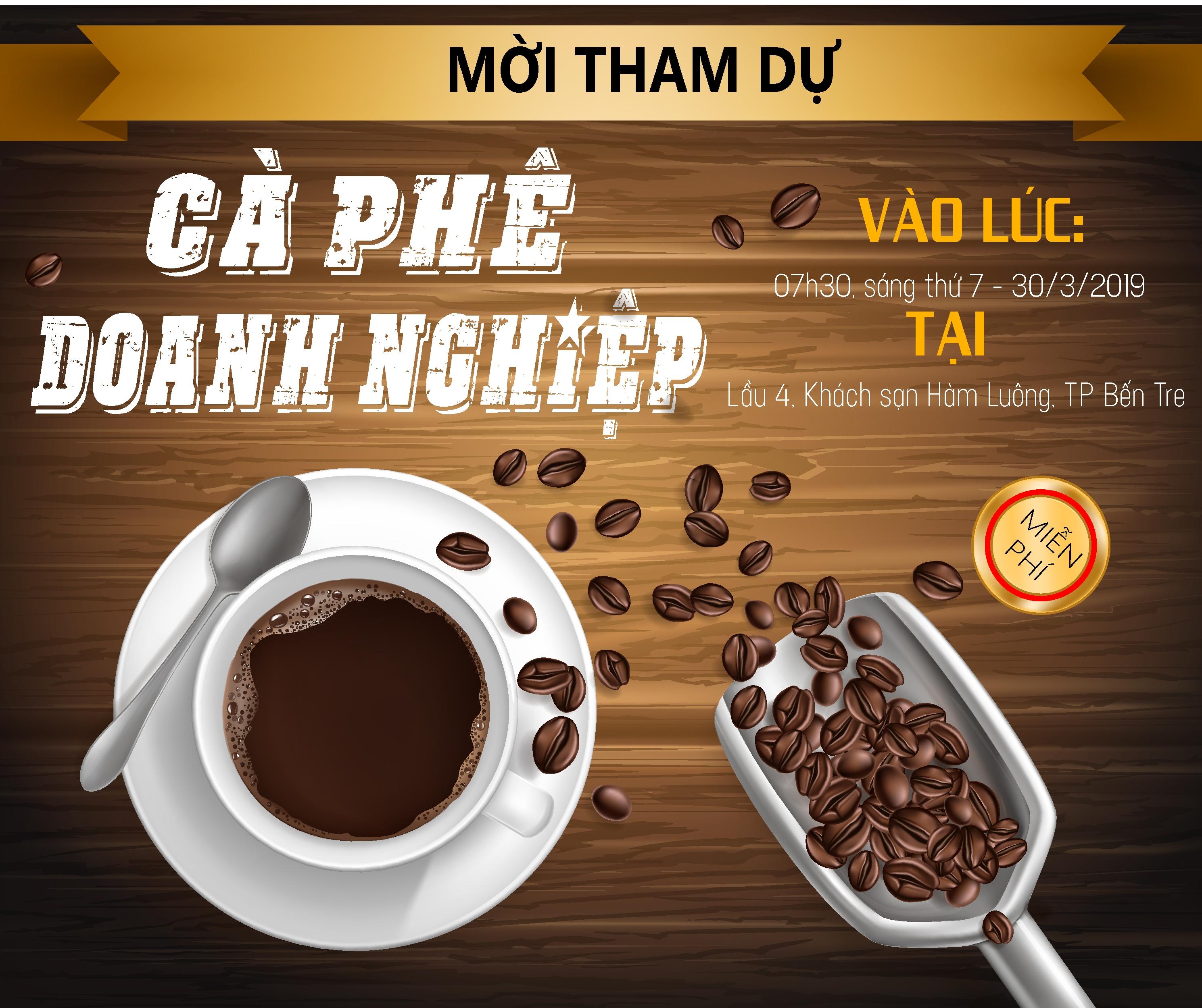 """Mời Tham dự """"Cà phê doanh nghiệp"""" tháng 3/2019"""